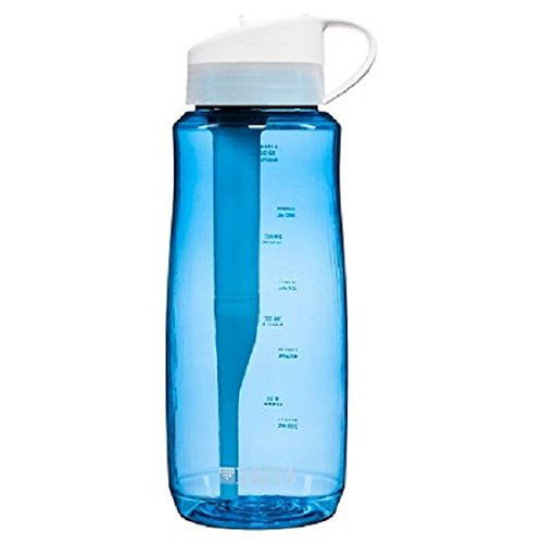 Brita Filtered Water Bottle (includes 1 Filter), Hard Sided, BPA Free, Blue, 34 Ounces