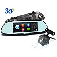 Podofo Dash Cam 7 Android 5.0 GPS Navigation 3G Car Camera 1080P Full HD Car DVR Dashboard Camera Recorder Built-In WiFi & Wide-Angle Lens, Loop Recording, Night Vision, Parking Monitor