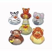 Fun Express Safari-Zoo Rubber Duckies - 12 Pieces