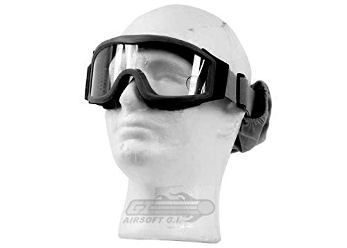 Lancer Tactical CA-201B Clear Lens Safety Airsoft Goggles (Black), Maxiumum Protection