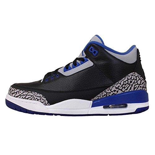 Nike Air Jordan 3 Sneaker Sportiva In Pelle Blu Retro Nero