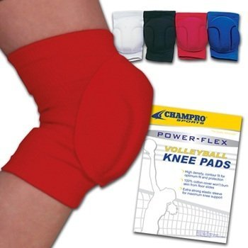 Champro CPX2000 Volleyball Knee Pad (Scarlet, Adult) (Champro Volleyball Knee Pads)