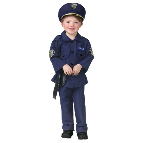 Police Officer Toddler Costumes - Fun World Costumes Baby Boy's Complete Policeman Toddler Costume, Blue, Toddler Small(3T-4T)