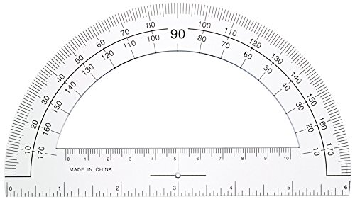 Sparco Plastic Protractor, 6-Inch Long, Clear (SPR01490) by Sparco (Image #1)