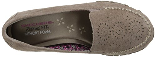 Dark Loafer Skechers Bikers Taupe Relaxed Traffic Expressway Fit Women's XqaRY