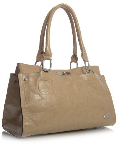 Big lo Beige borsa spalla ecopelle Beige Shop donna Tuscan in Handbag raExqP1rw