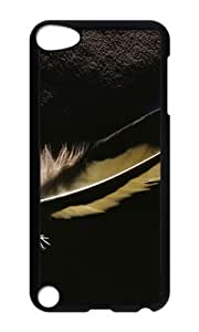 Ipod 5 Case,MOKSHOP Awesome Dark feather Hard Case Protective Shell Cell Phone Cover For Ipod 5 - PC Black