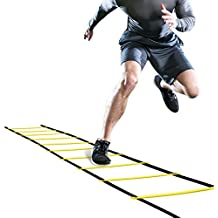 GHB Pro Agility Ladder Agility Training Ladder Speed Flat Rung with Carrying Bag