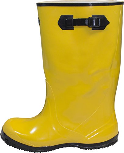 "The Safety Zone BSYE-10-6 Heavy Duty Rubber Shoe Slush Boots, 17"" Height, Size 10 (Pair), Yellow"