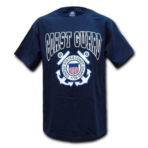 US United States Coast Guard Official Navy Blue T-shirt Size (Us Coast Guard Costumes)