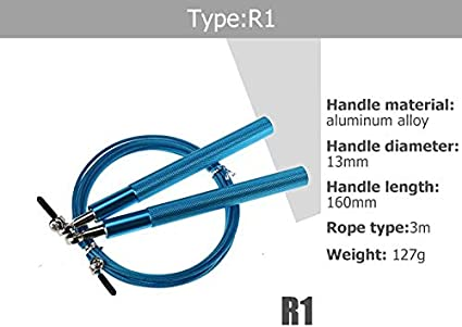 Jumping Rope Skipping Rope Best for Speed Jumping Boxing Crossfit Training Workouts Adjustable Jump Rope