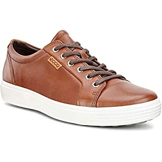 ECCO mens Soft 7 Fashion Sneaker, Mahogany Nubuck, 11-11.5 US