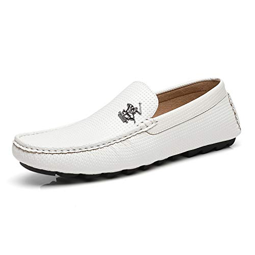 (Beverly Hills Polo Club Men's Driving Shoes Slip-on Loafer Moccasin Textured Casual Lightweight Flat Boat Shoes for Men)