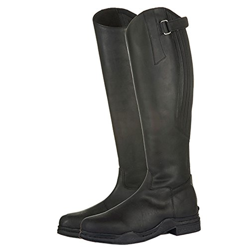 Boots Unisex Competition Showing Outdoor Yard Horse Adults Leather Black Riding HKM Stable pfHxZ7nwv