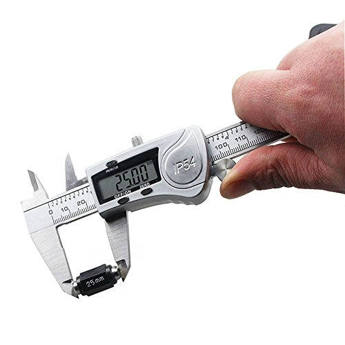 DZnNN Electronic Digital Caliper 6 inch - Full Stainless Steel IP54 Water Resistant Metal Conversion Vernier Caliper Measuring Tool with LCD Screen by DZnNN (Image #3)