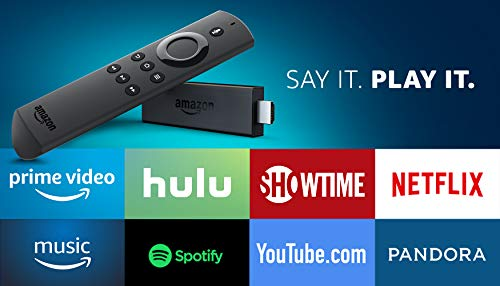 Large Product Image of Fire TV Stick with 1st Gen Alexa Voice Remote, streaming media player