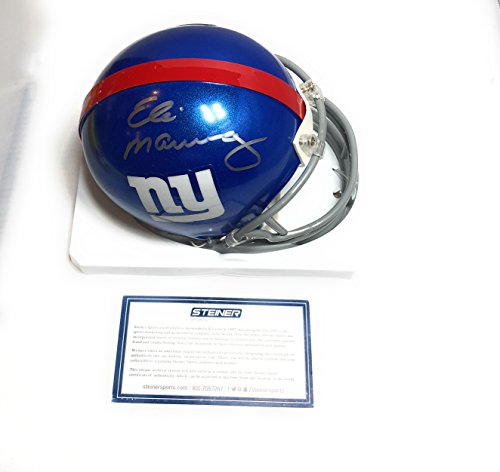 Eli Manning New York Giants Signed Autograph Mini Helmet Steiner Sports Certified from Mister Mancave
