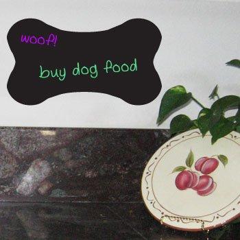 - DOG BONE Chalkboard Vinyl Sticker Decal Wall Decor
