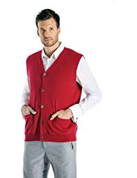 "<span class=""a-offscreen"">[Sponsored]</span>Men's Cashmere Sleeveless Cardigan Vest"