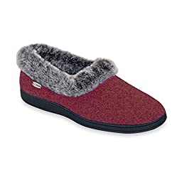 ACORN Women\'s Faux Chinchilla Collar Slipper , X-Large 9.5-10.5 M US,