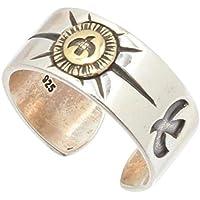 (SOWAKA) 指輪 メンズ リング シルバー925 平打ち フリーサイズ シルバーリング 純銀