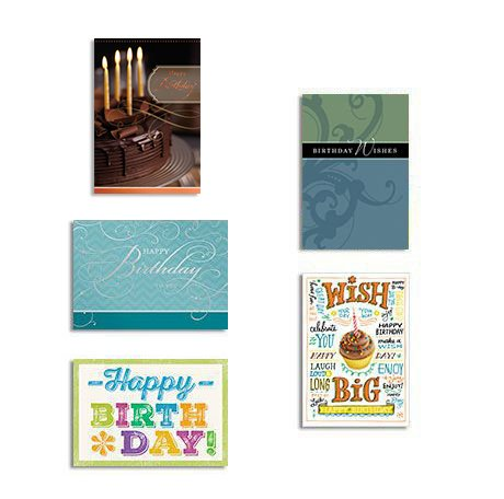 Amazon hallmark business birthday cards 25 pack assorted cards hallmark business birthday cards 25 pack assorted cards for employees or customers pack of 25 m4hsunfo
