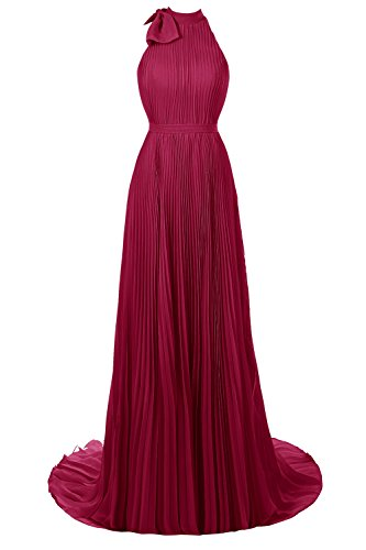 Dresses Floor Dora Neck Length Burgundy Prom Ruched Women High Bridal Party XOwqxUCz