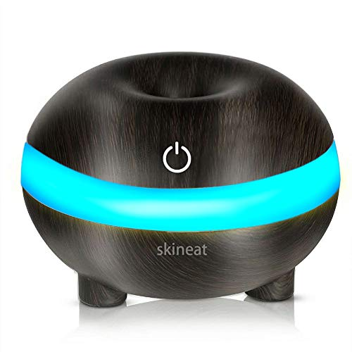 Skineat Aromatherapy Essential Oil Diffuser Wood Grain Color LED Light Conversion Touch Switch USB Charging Home Car 300ml Intelligent Anti-drying Ultra-quiet and Cool Spray Portable Air Humidifier
