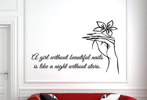 Dalxsh Nail Salon Quote Wall Window Decal Sticker Nails Art Polish Manicure Pedicure Beauty Salon Decoration Wall Stickers Quotes 57X36Cm -
