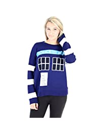 Doctor Who TARDIS Women's Navy Knitted Sweater