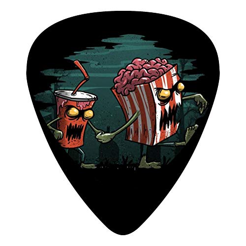 Horror Movie Essential 351 Shape Medium Classic Celluloid Picks, 12-Pack, For Electric Guitar, Acoustic Guitar, Mandolin, And Bass -