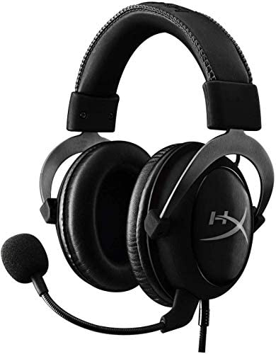 HyperX Cloud II – Gaming Headset, 7.1 Surround Sound, Memory Foam Ear Pads, Durable Aluminum Frame, Detachable Microphone, Works with PC, PS4, Xbox One – Gun Metal
