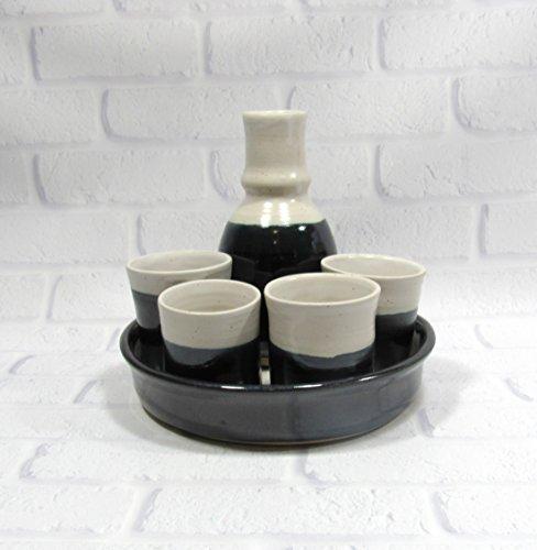 Stoneware Whiskey (Sake or Whiskey Decanter Set)