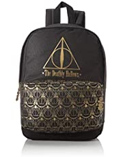 Official Harry Potter Black Deathly Hallows Backpack School Bag