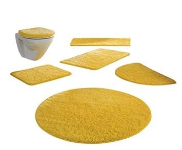 Tivoli 3-teilige Badezimmergarnitur mit Microban, Farbe gelb: Amazon ...