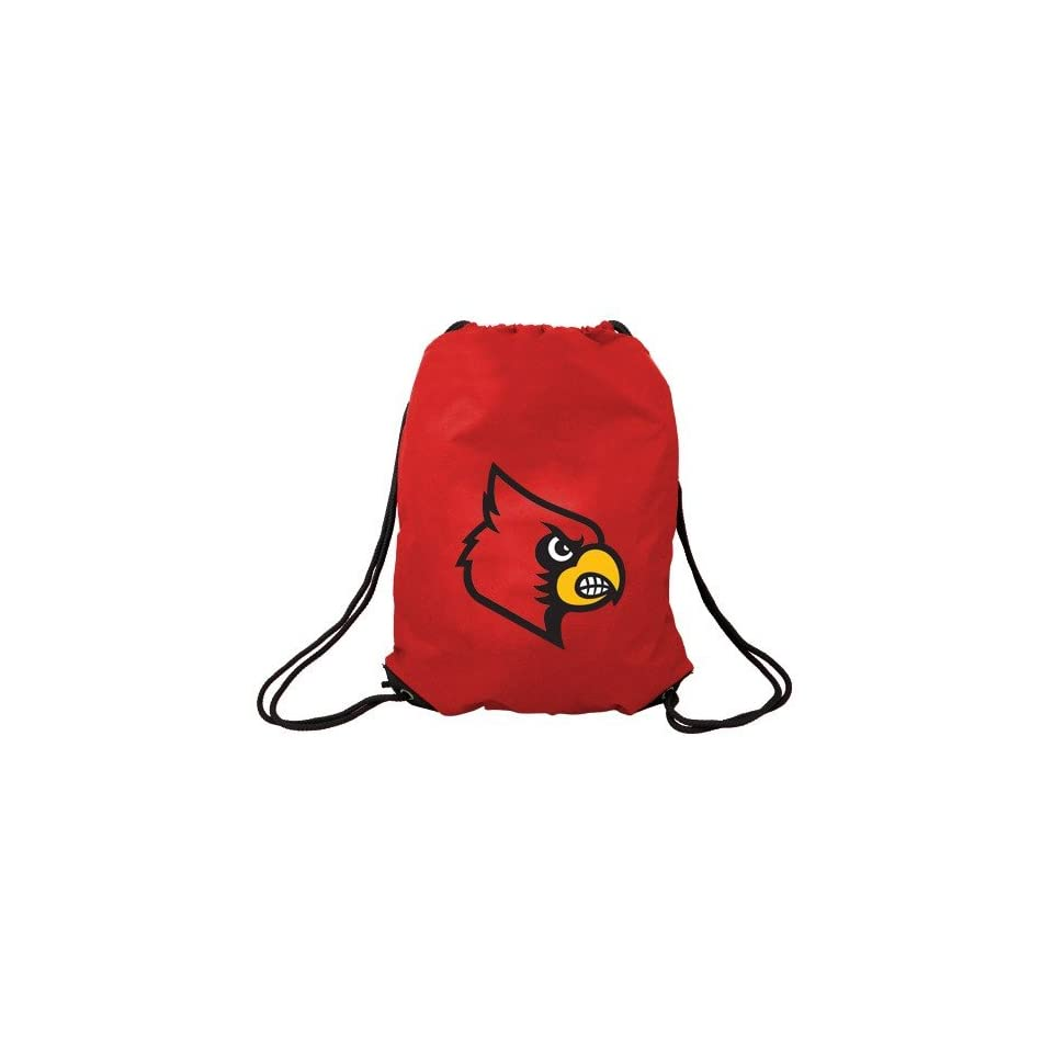 Louisville Cardinals Red Nylon Drawstring Backpack