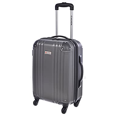 Canada 20 inch Charcoal Lightweight Hard Side Wheeled Suitcase