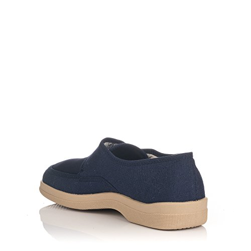 Füße marineblau Cutillas sehr Marineblau für Segeltuchschuhe empfindliche Klettverschluss Doctor IwCnax0