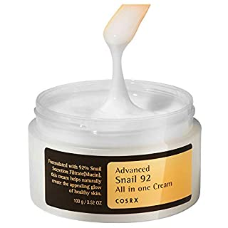 COSRX Advanced Snail 92 All in one Cream, 3.53 oz / 100g | Snail Secretion Filtrate 92% for Moisturizing | Korean Skin Care