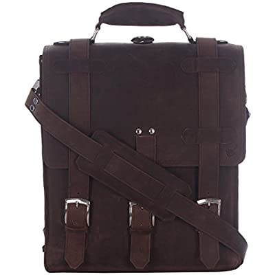 M'Cuero Men's Leather Briefcases Bags 50%OFF