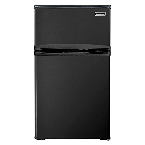 - Magic Chef HMDR310BE 3.1 cu. ft. Mini Refrigerator in Black With Can Dispenser and Removable Shelves