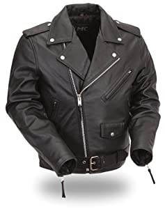 First Manufacturing Black Classic Kids Motorcycle Jacket for Boys and Girls from First Manufacturing