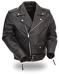 First Manufacturing Classic Kids Motorcycle Jacket for Boys and Girls (Black, Size 2)
