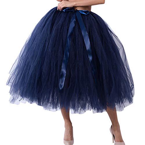 POQOQ School Skirt Women's Elastic Waist Tartan Pleated Free Size -