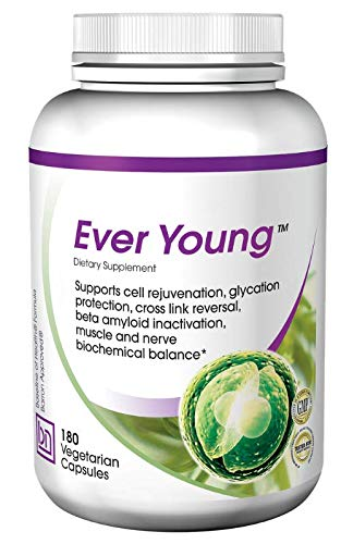 Baseline Nutritionals Ever Young - Anti-Aging Nutrition for Skin & Organ Protection with L-Carnosine, Acetyl-L-Carnitine, DMAE