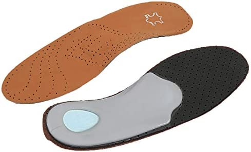 Lederbogenstütze Orthopädische Silikon Einlegesohlen Flache Fuß Schuhe Einlegesohlen für Männer, Frauen