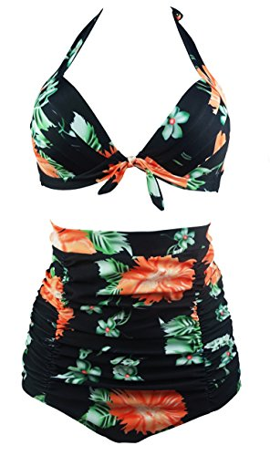 COCOSHIP Floral Halter Carnival Swimsuit product image