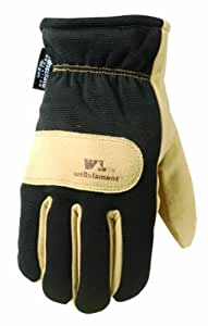 Wells Lamont 1197L Work Gloves with Suede Cowhide, G100 Thinsulate Lined, Spandex Back, Knit Wrist, Large