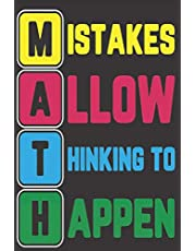 MISTAKES ALLOW THINKING TO HAPPEN: Teacher Journal Daily Reflection Date Word, Challenges & Wins Notes To-do list, Top priorities, Best & Worst Mood during the day