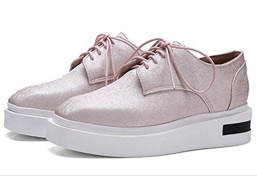 YCMDM Donne Single Leisure Estate Primavera Estate comode scarpe piatte grandi dimensioni scarpe da corte , pink , 35